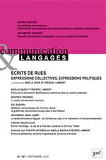 Communication & Langages, écrits de rues - expression collectives, expressions politiques